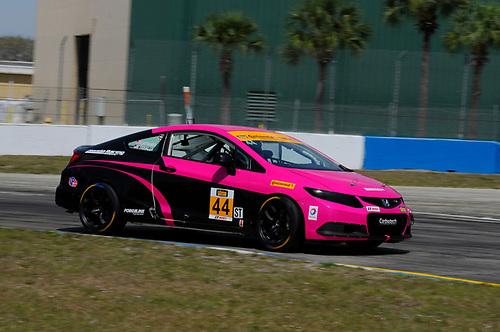 16-18 March, 2016, Sebring, Florida, USA<br /> #44 Sarah Cattaneo, Owen Trinkler, Honda Civic Si<br /> © 2016, Jay Bonvouloir, ESCP