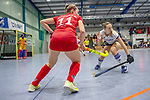 Mannheim, Germany, January 12: During the 1. Bundesliga women indoor hockey match between Mannheimer HC and Ruesselsheimer RK on January 12, 2020 at Irma-Roechling-Halle, Am Neckarkanal in Mannheim, Germany. Final score 5-4. (Photo by Dirk Markgraf / www.265-images.com) *** Lea Sack #11 of Ruesselsheimer RK
