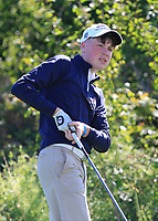 Liam Power (Galway) on the 3rd tee during the Connacht Final of the AIG Barton Shield at Galway Bay Golf Club, Galway, Co Galway. 11/08/2017<br /> <br /> Picture: Golffile | Thos Caffrey<br /> <br /> <br /> All photo usage must carry mandatory copyright credit     (&copy; Golffile | Thos Caffrey)