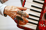Hays Daily News &bull; Chad Pilster<br /> <br /> Roz Barnes, on accordion, plays on Monday, April 29, 2013, during a performance of the Monday Night Gals at the Good Samaritan Society in Hays, Kansas. The group has a wide range of instruments including a banjo, bass, and guitar.
