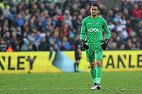 Lukasz Fabianski of Swansea City during the Premier League game between Swansea City v Chelsea at the Liberty Stadium, Swansea, Wales, UK. Saturday 28 April 2018