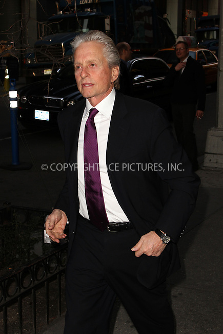 WWW.ACEPIXS.COM....April 8 2013, New York City....Michael Douglas arrives at the Marty Richards memorial benefiting The New York Center for Children at the Edison Ballroom on April 8 2013 in New York City....By Line: Zelig Shaul/ACE Pictures......ACE Pictures, Inc...tel: 646 769 0430..Email: info@acepixs.com..www.acepixs.com