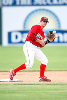July 1, 2009:  Second Baseman Devin Goodwin of the Batavia Muckdogs in the field during a game at Dwyer Stadium in Batavia, NY.  The Muckdogs are the NY-Penn League Short-Season Class-A affiliate of the St. Louis Cardinals.  Photo By Mike Janes/Four Seam Images