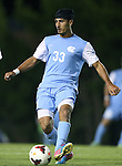 08 October 2013: North Carolina's Raby George (SWE). The University of North Carolina Tar Heels hosted the Clemson University Tigers at Fetzer Field in Chapel Hill, NC in a 2013 NCAA Division I Men's Soccer match. Clemson won the game 2-1 in overtime.