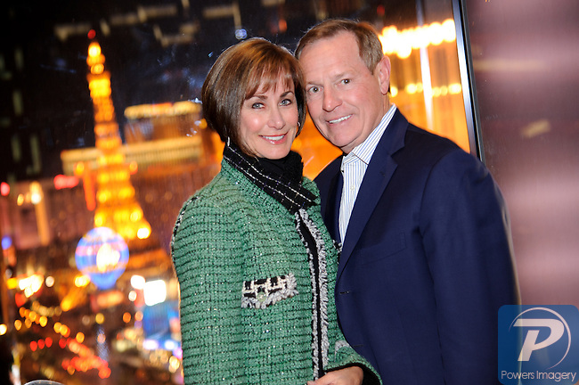 Lynn and Bill Weidner at the Dom Perignon Champagne event to pay tribute to Andy Warhol at the Mandarin Bar inside Mandarin Oriental, Las Vegas, NV, November 10, 2010 © Al Powers / Vegas Magazine
