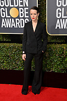 Claire Foy at the 75th Annual Golden Globe Awards at the Beverly Hilton Hotel, Beverly Hills, USA 07 Jan. 2018<br /> Picture: Paul Smith/Featureflash/SilverHub 0208 004 5359 sales@silverhubmedia.com