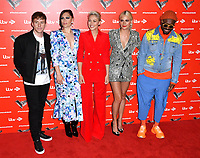 Danny Jones, Jessie J, Emma Willis, Pixie Lott and will.i.am attend photocall to launch The Voice Kids, new ITV series of the children's talent show, at The RSA, London on June 06, 2019.<br /> CAP/JOR<br /> ©JOR/Capital Pictures