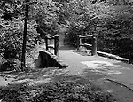 Pittsburgh PA.  A walking path in Frick Park - 1952. The park was created after a gift was made to the city of Pittsburgh by Henry Clay Frick.  When he died in 1919, Frick bequeathed to the city 151 acres south of his Point Breeze mansion, Clayton, and provided a $2 million trust fund to help create the park and assist with its long-term maintenance. The city began moving in earnest to create the park in 1925, when it acquired 190 additional acres, presumably with the goal to create a park of similar size and scope to Schenley and Highland Parks. The park officially opened in 1927.