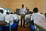 A teacher in class at the John Paul II School in Wau, South Sudan.