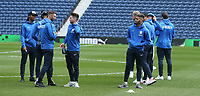 Preston North End players inspect the pitch<br /> <br /> Photographer Stephen White/CameraSport<br /> <br /> The EFL Sky Bet Championship - West Bromwich Albion v Preston North End - Saturday 13th April 2019 - The Hawthorns - West Bromwich<br /> <br /> World Copyright © 2019 CameraSport. All rights reserved. 43 Linden Ave. Countesthorpe. Leicester. England. LE8 5PG - Tel: +44 (0) 116 277 4147 - admin@camerasport.com - www.camerasport.com