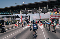 toll booth anarchy<br /> <br /> 106th Scheldeprijs 2018 (1.HC)<br /> 1 Day Race: Terneuzen (NED) - Schoten (BEL)(200km)