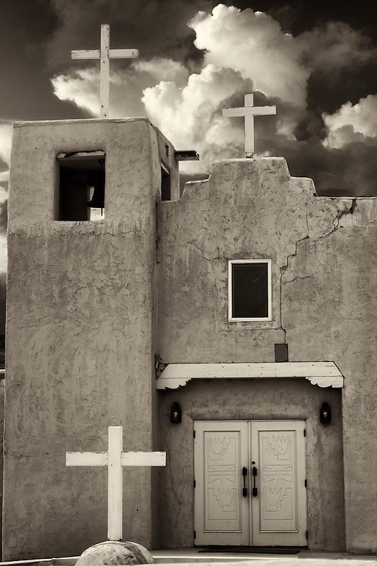 Santa Clara Pueblo Church. New Mexico