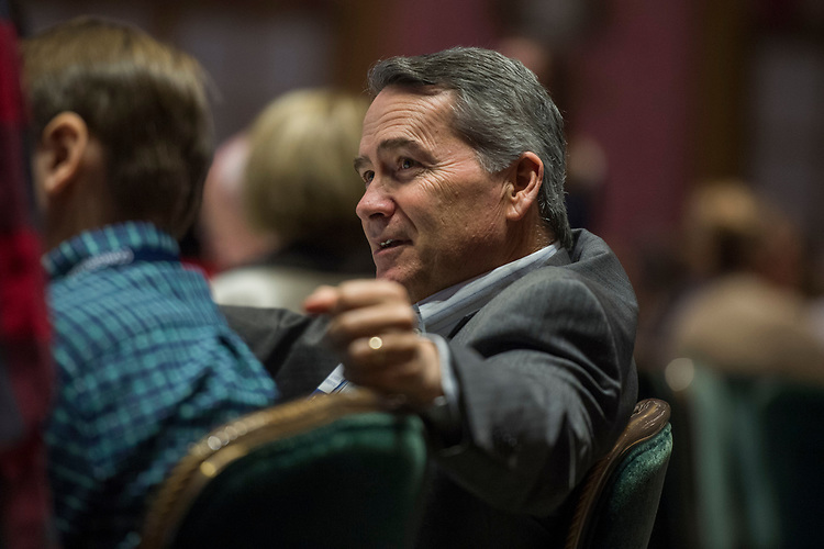 UNITED STATES - FEBRUARY 01: Rep. Jody Hice, R-Ga., attends a luncheon featuring a speech by President Donald Trump at the House and Senate Republican retreat at The Greenbrier resort in White Sulphur Springs, W.Va., on February 1, 2018. (Photo By Tom Williams/CQ Roll Call)