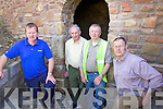 Work is ongoing on the restoration of a historical Lime Kilm in Currow .Pictured L- R Tidy Towns committee members, Sean O'Leary, Chairperson Peter O'Connor, Dermot O'Leary and John Houlihan