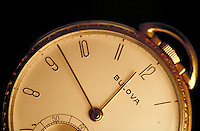 Bulova gold pocket watch-detail. United States.