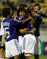 Japan celebrates win over ARGENTINA. 2003WWC Japan/Argentina