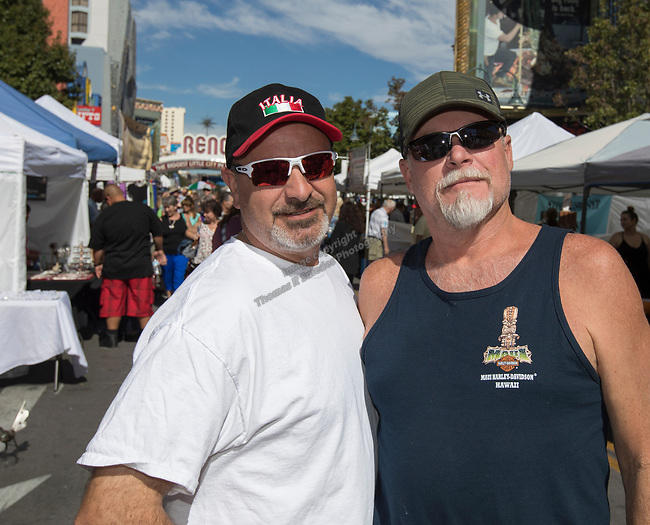 Steve and Hannu during the Italian Festival in downtown Reno on Saturday, Oct. 7, 2017.