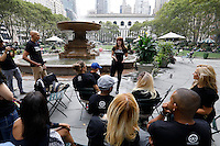 Alopecia Areata Flash Mob in NYC.<br /> Getting Ready in Bryant Park.