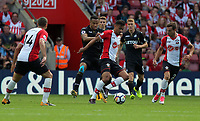 Martin Olsson of Swansea (C) during the Premier League match between Southampton and Swansea City at the St Mary's Stadium, Southampton, England, UK. Saturday 12 August 2017