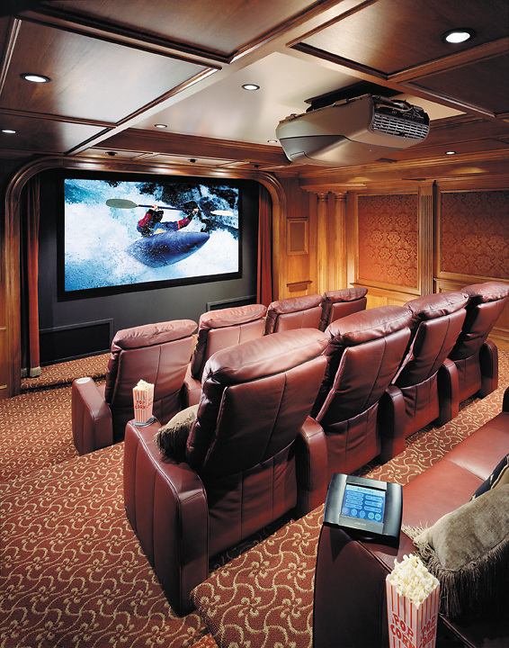 Leather Comfort Screening Room