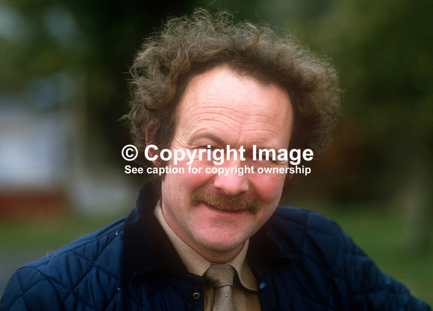 John Stronge, manager, Belfast Zoo, motorcycle trials events administrator, March, 1986, 19860307JS<br />
