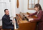 Andrew Lippa and Gretchen Cryer during the Dramatists Guild Foundation Salon with Playwright Itamar Moses at the Cryer Residence on December 7, 2017 in New York City.
