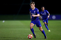 Luke McCormick of Chelsea in action during Chelsea Under-19 vs Montpellier HSC Under-19, UEFA Youth League Football at the Cobham Training Ground on 13th March 2019