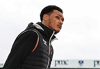 Blackpool's Christoffer Mafoumbi arriving at the stadium <br /> <br /> Photographer Andrew Kearns/CameraSport<br /> <br /> The EFL Sky Bet League One - Portsmouth v Blackpool - Saturday 12th January 2019 - Fratton Park - Portsmouth<br /> <br /> World Copyright &copy; 2019 CameraSport. All rights reserved. 43 Linden Ave. Countesthorpe. Leicester. England. LE8 5PG - Tel: +44 (0) 116 277 4147 - admin@camerasport.com - www.camerasport.com