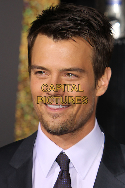 "Josh Duhamel.The World Premiere of ""New Year's Eve' held at The Grauman's Chinese Theatre in Hollywood, California, USA..December 5th, 2011.headshot portrait black white shirt stubble facial hair .CAP/CEL .©CelPh/Capital Pictures."