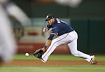 Reno Aces Andy Marte makes a play at third against the Omaha Storm Chasers 5-2 Wednesday, Aug. 27, 2014, in Reno, Nev.<br /> Photo by Cathleen Allison