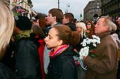 10.04.2010 Warsaw, Poland.<br /> People mourning the tragic death of President Lech Kaczynski and his wife in front of the presidential residence.<br /> <br /> Photo: Ewa Meissner / Napo Images<br /> <br /> 10.04.2010 Warszawa, Polska.<br /> Zaloba po tragicznej smierci Prezydenta Lecha Kaczynskiego i jego malzonki,ul. Krakowskie Przedmiescie przed Palacem Prezydenckim.<br /> <br /> fot. Ewa Meissner / Napo Images
