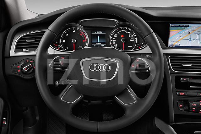 Steering wheel view of a