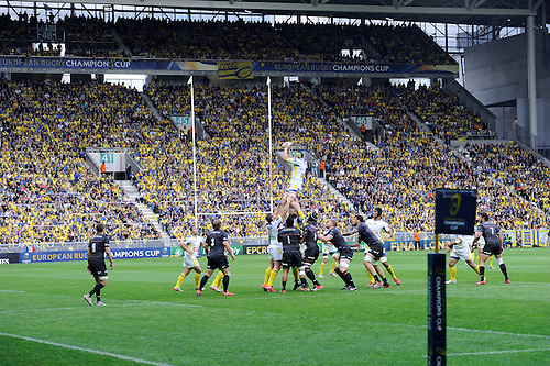 18.04.2015. Clermont-Ferrand, Auvergne, France. Champions Cup rugby semi-final between ASM Clermont and Saracens.   Julien Bonnaire (asm)