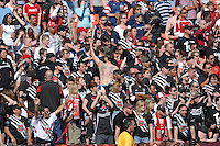 DC United supporters Brarra Brava chants for the team. DC United defeated Chivas USA 2-1, at RFK Stadium in Washington DC, Sunday May 6, 2007.