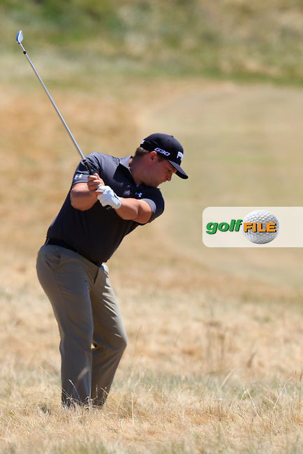 Daniel Summerhays (USA) in the rough for his 2nd shot on the 7th hole during Friday's Round 2 of the 2015 U.S. Open 115th National Championship held at Chambers Bay, Seattle, Washington, USA. 6/19/2015.<br /> Picture: Golffile | Eoin Clarke<br /> <br /> <br /> <br /> <br /> All photo usage must carry mandatory copyright credit (&copy; Golffile | Eoin Clarke)