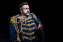"PHOTOS ARE EMBARGOED UNTIL 19:30 28TH SEPTEMBER 2017. London, UK. 26.09.2017. English National Opera presents Verdi's ""Aida"", directed by Phelim McDermott, at the London Coliseum. Picture shows: Gwyn Hughes Jones (Radames). Photograph © Jane Hobson."