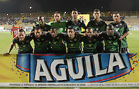 BOGOTÁ -COLOMBIA, 05-02-2016. Jugadores de La Equidad posan para una foto previo al encuentro con Cortulua por la fecha 2 de la Liga Águila I 2016jugado en el estadio Metropolitano de Techo de la ciudad de Bogotá. / Players of La Equidad pose to a photo prior the match against Cortulua for the date 2 of the Aguila League I 2016 played at Metropolitano de Techo stadium in Bogotá city. Photo: VizzorImage/ Gabriel Aponte / Staff