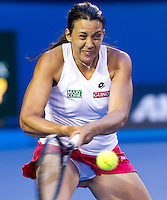 MARION BARTOLI (FRA) against JELENA DOKIC (AUS) in the second round of the Women's Singles. Marion Bartoli beat Jelena Dokic 6-3 6-2 ..19/01/2012, 19th January 2012, 19.01.2012..The Australian Open, Melbourne Park, Melbourne,Victoria, Australia.@AMN IMAGES, Frey, Advantage Media Network, 30, Cleveland Street, London, W1T 4JD .Tel - +44 208 947 0100..email - mfrey@advantagemedianet.com..www.amnimages.photoshelter.com.