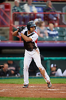 Erie SeaWolves Derek Hill (11) at bat during an Eastern League game against the Portland Sea Dogs on June 17, 2019 at UPMC Park in Erie, Pennsylvania.  Portland defeated Erie 6-3.  (Mike Janes/Four Seam Images)