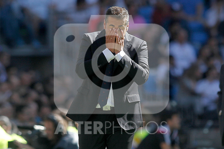 Granada's coach Jose Ramon Sandoval during La Liga match. September 19,2015. (ALTERPHOTOS/Acero)