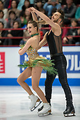 23rd March 2018, Milan, Italy; ISU World Figure Skating Championships  Milano 2018; Gabriella Papadakis and Guillaume Cizeon (France)