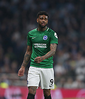Brighton & Hove Albion's Jurgen Locadia<br /> <br /> Photographer Rob Newell/CameraSport<br /> <br /> The Premier League - Tottenham Hotspur v Brighton and Hove Albion - Tuesday 23rd April 2019 - White Hart Lane - London<br /> <br /> World Copyright © 2019 CameraSport. All rights reserved. 43 Linden Ave. Countesthorpe. Leicester. England. LE8 5PG - Tel: +44 (0) 116 277 4147 - admin@camerasport.com - www.camerasport.com