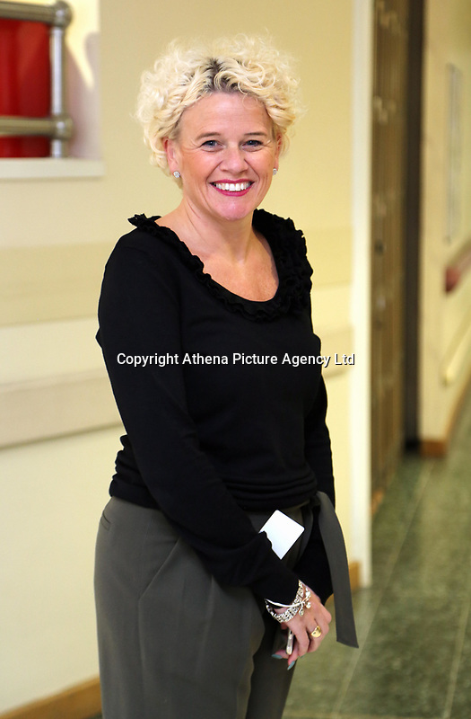Pictured: Director of services Clare Edwards at Neath Port Talbot hospital. Wednesday 08 November 2017<br />Re: Presentation of hospital catering syndicate win £25m in Euromillions Jackpot at Hensol Castle, south Wales, UK. Julie Saunders, 56, Doreen Thompson, 56, Louise Ward, 37, Jean Cairns, 73, SIan Jones, 54 and Julie Amphlett, 50 all work as catering staff for Neath Port Talbot Hospital in south Wales.