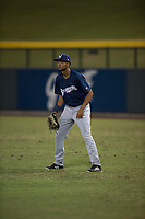AZL Brewers right fielder Pablo Garabitos (33) during an Arizona League game against the AZL Cubs 1 at Sloan Park on June 29, 2018 in Mesa, Arizona. The AZL Cubs 1 defeated the AZL Brewers 7-1. (Zachary Lucy/Four Seam Images)