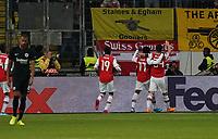Torjubel Bukayo Saka (Arsenal London) - 19.09.2019:  Eintracht Frankfurt vs. Arsenal London, UEFA Europa League, Gruppenphase, Commerzbank Arena<br /> DISCLAIMER: DFL regulations prohibit any use of photographs as image sequences and/or quasi-video.