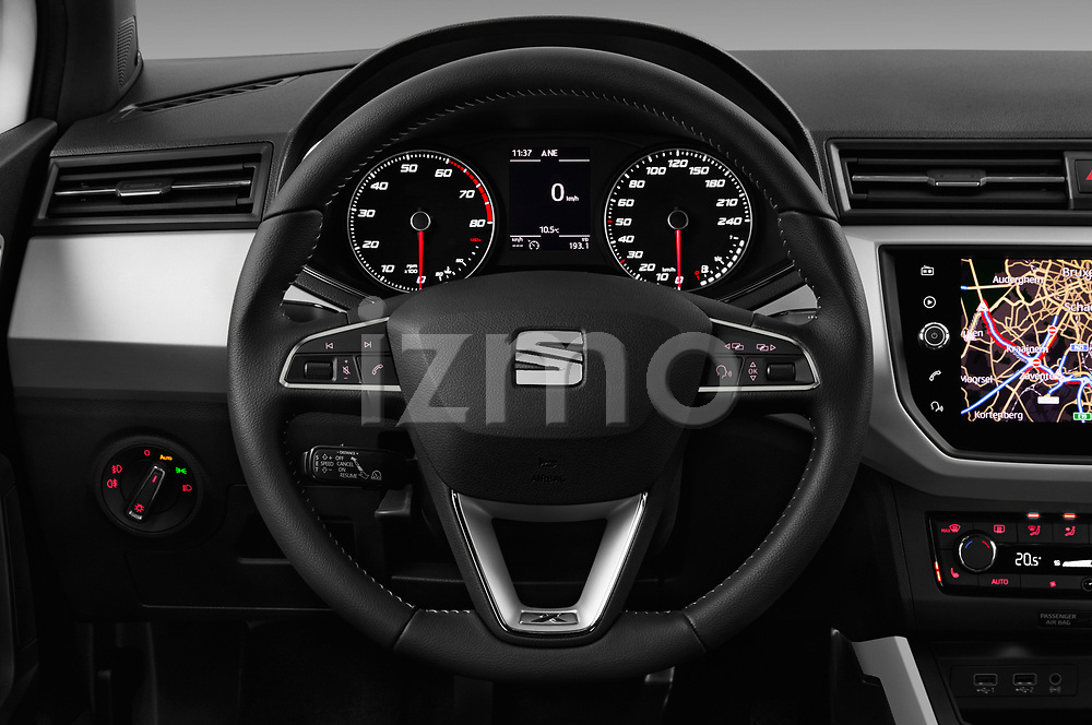 Car pictures of steering wheel view of a 2018 Seat Arona Xcellence 5 Door SUV