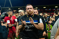 Henry Thomas of Bath Rugby looks dejected after the match. Heineken Champions Cup match, between Stade Toulousain and Bath Rugby on January 20, 2019 at the Stade Ernest Wallon in Toulouse, France. Photo by: Patrick Khachfe / Onside Images