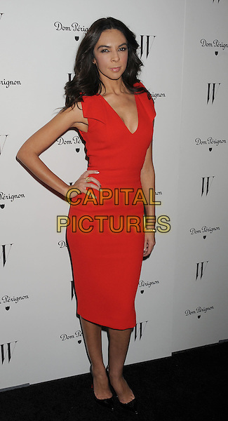 Terri Seymour.W Magazine's 69th Annual Golden Globe Awards Celebration held at The Chateau Marmont, West Hollywood, California, USA..13th January 2012.full length red dress sleeveless hand on hip.CAP/ROT/TM.©Tony Michaels/Roth Stock/Capital Pictures