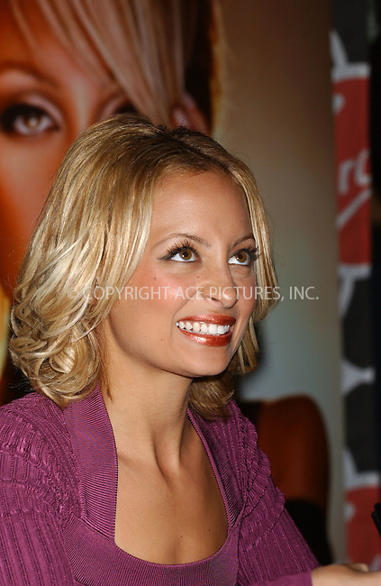 WWW.ACEPIXS.COM . . . . . ....November 10 2005, New York City....Nicole Richie signing her new book 'The truth about diamonds' at the Virgin Megastore in Manhattan....Please byline: KRISTIN CALLAHAN - ACE PICTURES.. . . . . . ..Ace Pictures, Inc:  ..Craig Ashby (212) 243-8787..e-mail: picturedesk@acepixs.com..web: http://www.acepixs.com