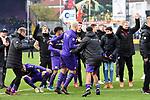 09.11.2019, Stadion an der Bremer Brücke, Osnabrück, GER, 2. FBL, VfL Osnabrueck vs. VfB Stuttgart<br /> <br /> ,DFL REGULATIONS PROHIBIT ANY USE OF PHOTOGRAPHS AS IMAGE SEQUENCES AND/OR QUASI-VIDEO, <br />   <br /> im Bild<br /> Schlussjubel / Schlußjubel / Emotion / Freude / <br /> <br /> <br /> Foto © nordphoto / Paetzel
